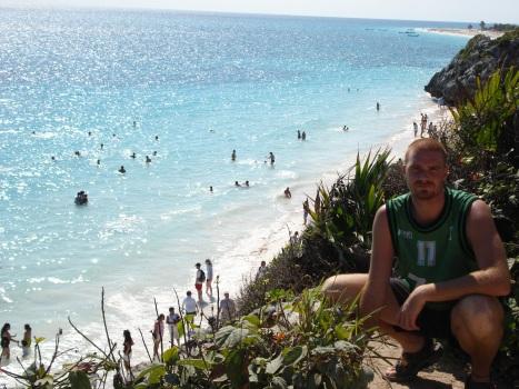 Marc desde Mexico, en una bonita y paradisiaca playa.
